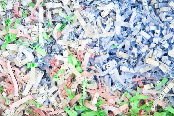Wall Art - Photograph - Shredded Paper by Tom Gowanlock