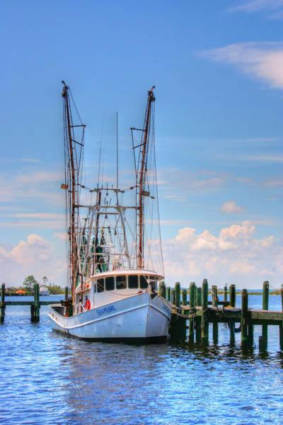 Photograph - Shrimp Boat At Dock by Barry Jones