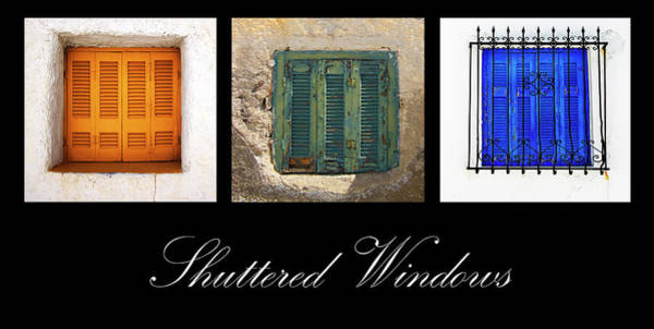Photograph - Shuttered Windows by Meirion Matthias