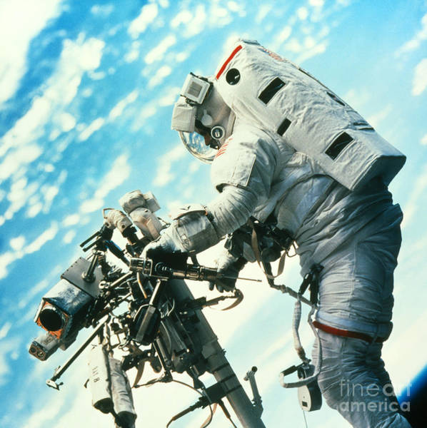 Photograph - Shuttle Astronaut On Remote Manipulator by Nasa
