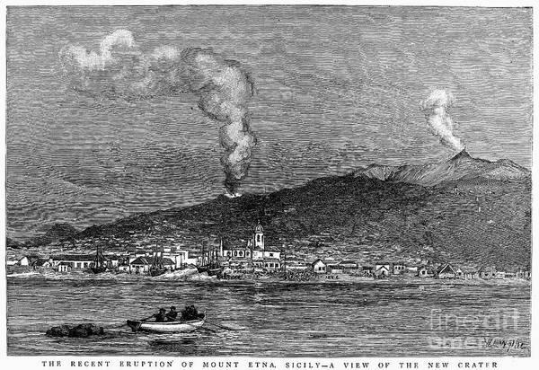 Photograph - Sicily: Mount Etna, 1886 by Granger