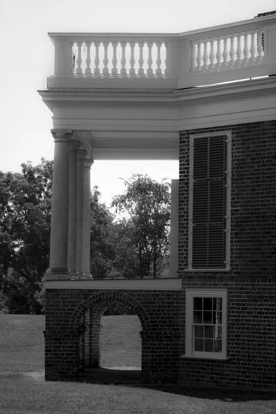 Wall Art - Photograph - Side View South Portico Bw by Teresa Mucha