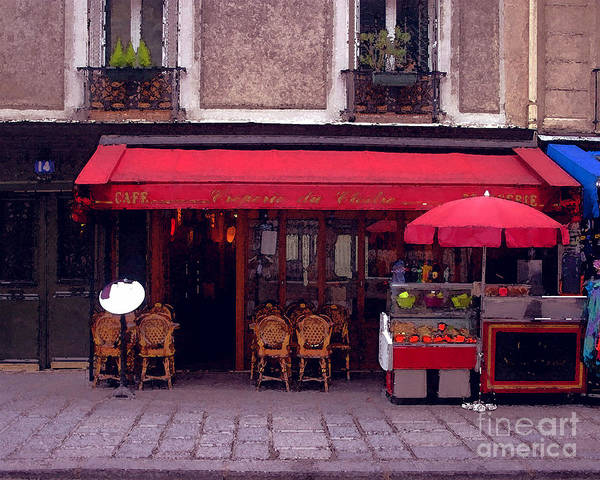 Wall Art - Photograph - Side Walk Cafe' by Dennis Curry