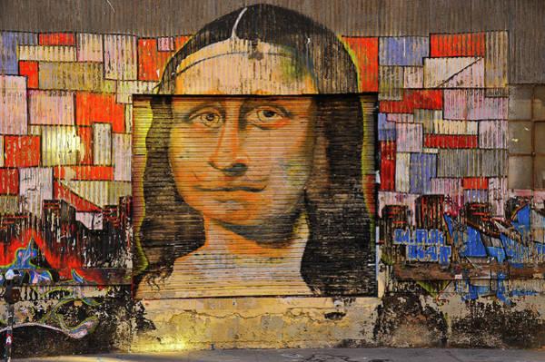Photograph - Sidewalk Mona Lisa by Harry Spitz