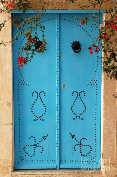 Tunisia Digital Art - Sidi Bou Said Tunisia Blue Door by Eva Kaufman