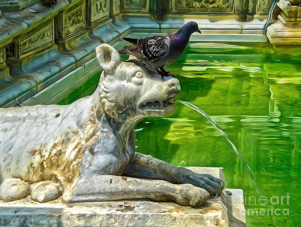Painting - Siena Italy - Bird Dog by Gregory Dyer