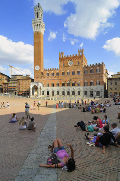 Photograph - Siena Italy - Piazza Del Campo by Matthias Hauser