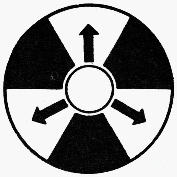 Wall Art - Photograph - Sign: Nuclear Radiation by Granger