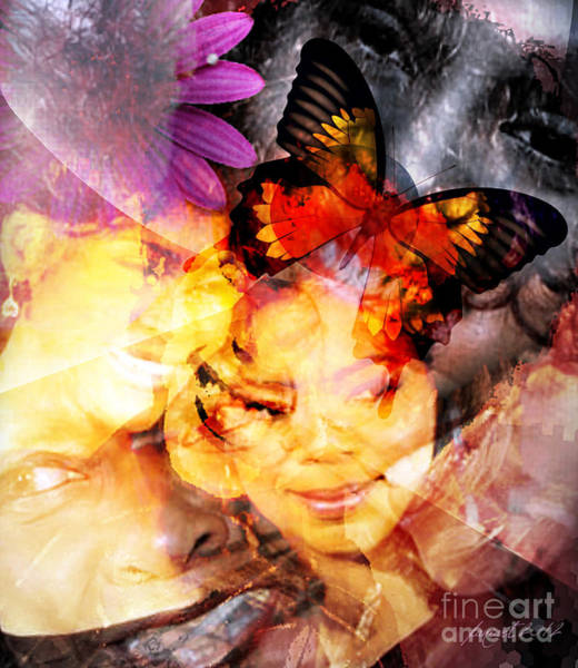 Time Traveler Mixed Media - Silent Butterfly by Fania Simon