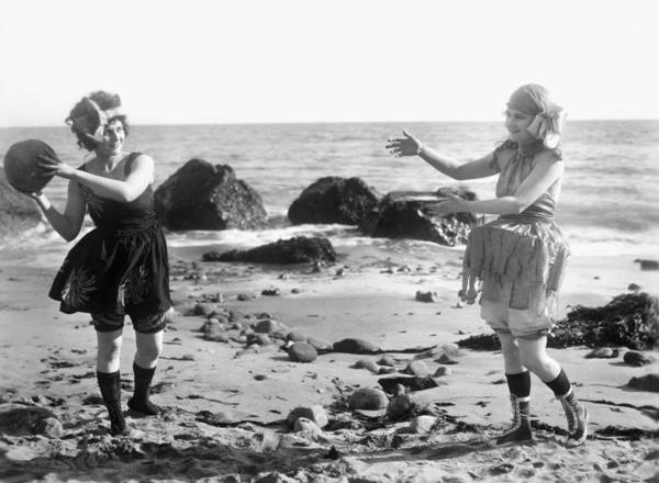 Photograph - Silent Film Still: Beach by Granger