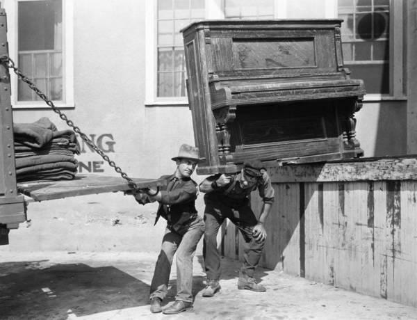 1921 Photograph - Silent Film Still: Moving by Granger