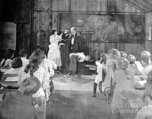 Photograph - Silent Film Still: School by Granger