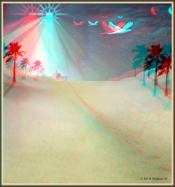 Stereoscopy Digital Art - Silent Night - Red And Cyan 3d Glasses Required by Brian Wallace