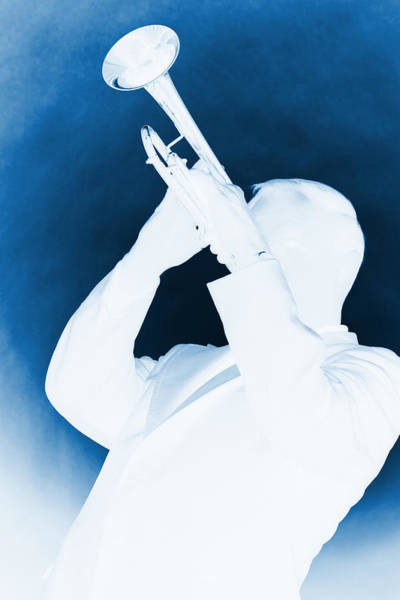 Photograph - Silhouette Trumpet by M K Miller