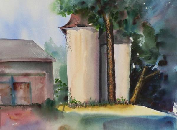 Elwood Blues Painting - Silos by Jann Elwood