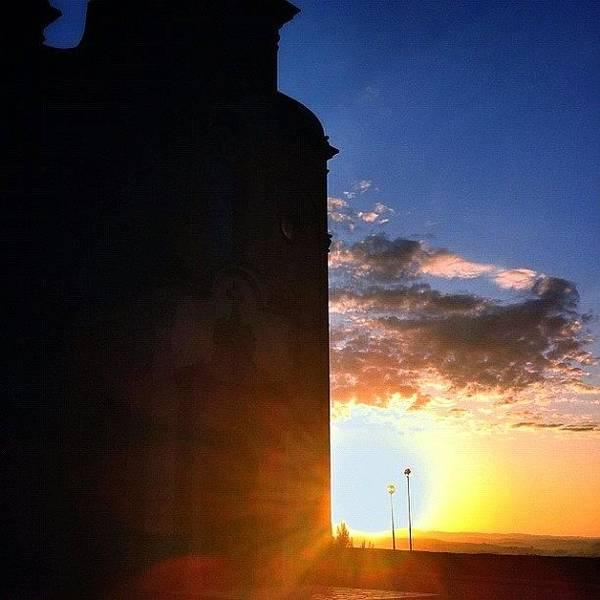 Jesus Photograph - Silueta St.crist De Balaguer, I El Sol by Rafel Jesus