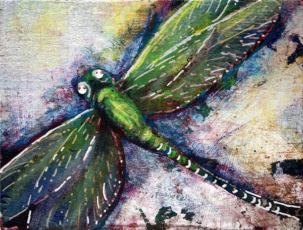 Mixed Media - Silver Dragonfly by Ashley Kujan