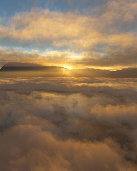 Clouds Digital Art - Silver Lake Sunrise by Mark Greenberg