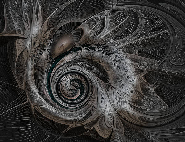 Digital Art - Silver Spiral by Amanda Moore