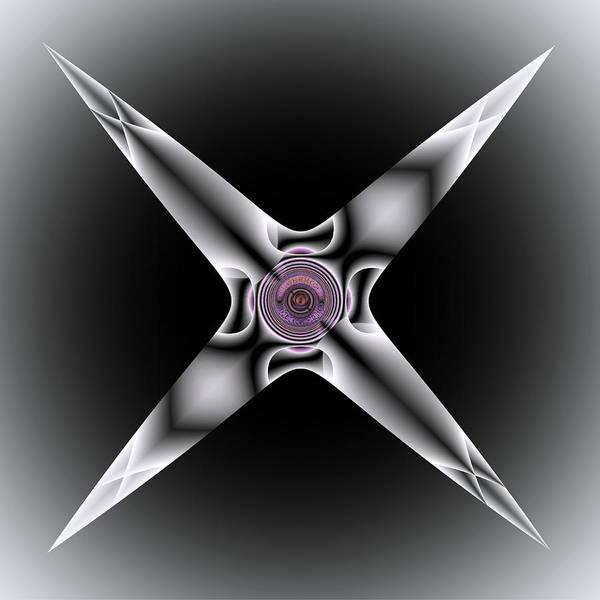 Digital Art - Silver Star by Visual Artist Frank Bonilla