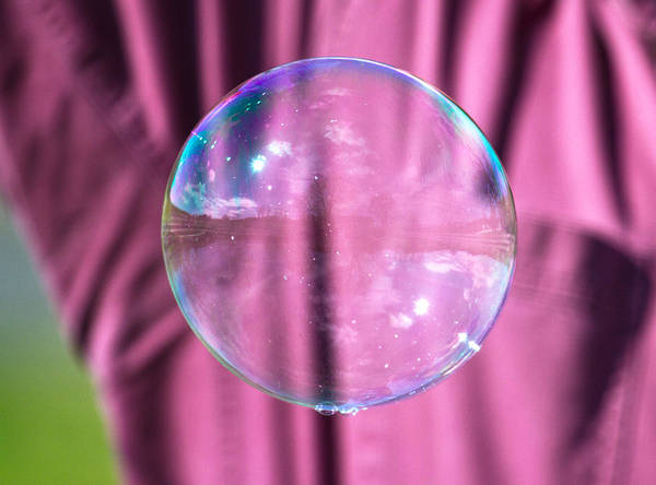 Soap Bubble Photograph - Simple Reflections by Betsy Knapp