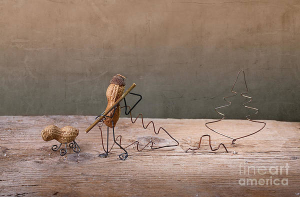 Figurine Wall Art - Photograph - Simple Things - Christmas 02 by Nailia Schwarz