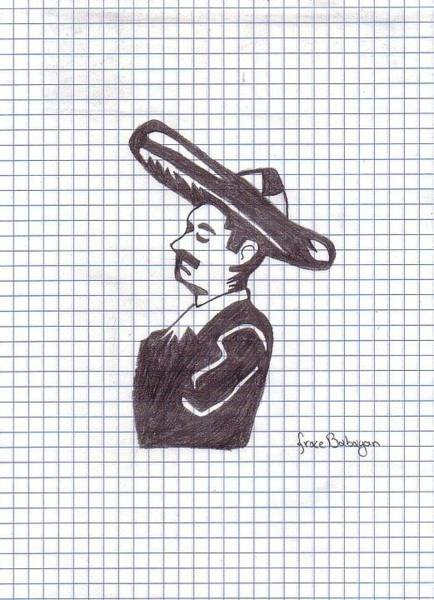 Mariachi Drawing - Simply Mariachi  by Grace Babayan
