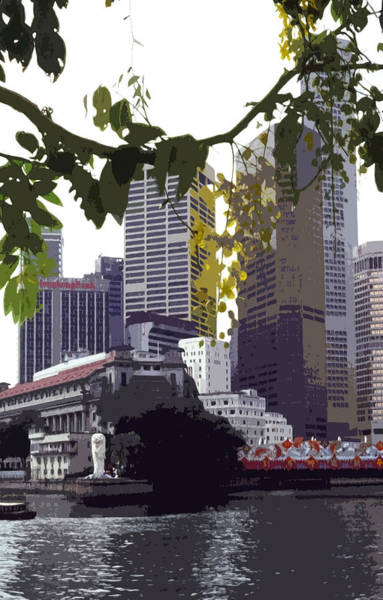 Stamford Photograph - Singapore ... The Lion City  by Juergen Weiss