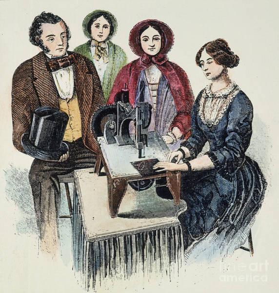 Wall Art - Photograph - Singer Sewing Machine, 1853 by Granger