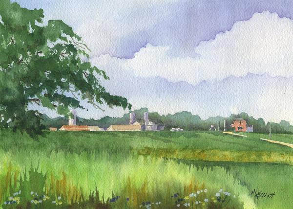 Crop Painting - Sink's Farm by Marsha Elliott