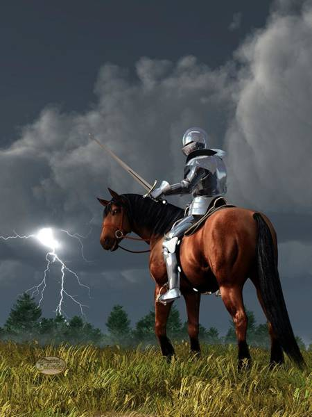 Digital Art - Sir Lightning Rod by Daniel Eskridge