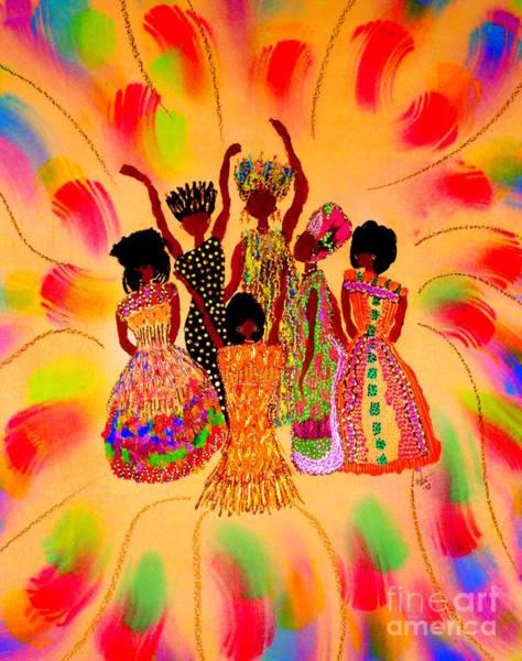 Wall Art - Mixed Media - Sisterhood In Full Effect by Angela L Walker