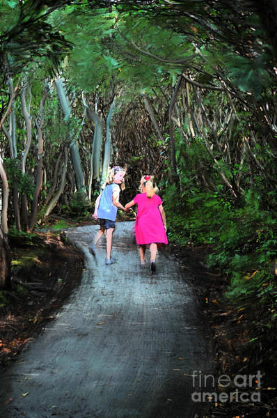 Photograph - Sisters Going Down The Path by Dan Friend