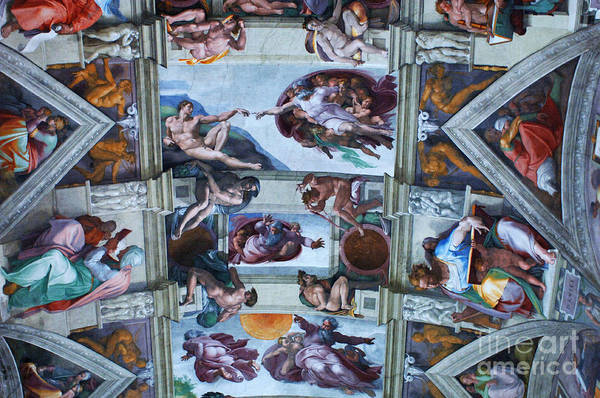 Sistine Chapel Wall Art - Photograph - Sistine Chapel Ceiling by Bob Christopher