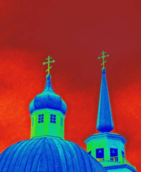 Patina Digital Art - Sitka Russian Orthodox 6 by Randall Weidner