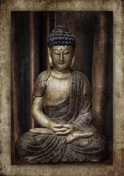 Wall Art - Photograph - Sitting Buddha by Carol Leigh