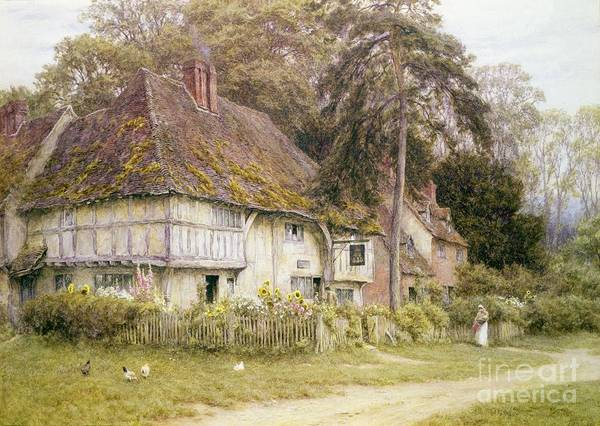 Six Painting - Six Bells Hollingbourne Kent  by Helen Allingham