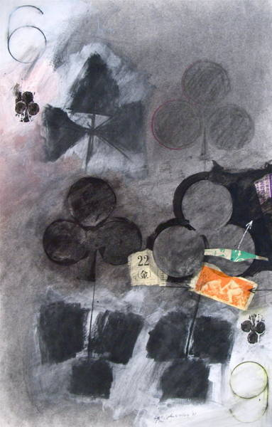 Painting - Six Of Clubs 22-52 by Cliff Spohn
