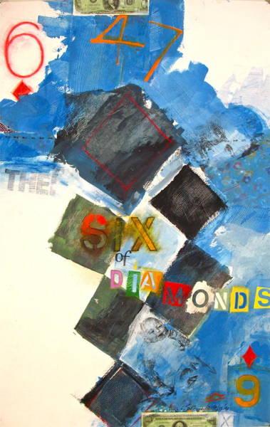 Painting - Six Of Diamonds 41-52 by Cliff Spohn