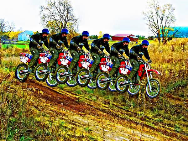 Dirt Bike Photograph - Six Pack by Steve Harrington