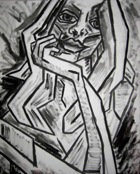 Wall Art - Painting - Sketch - Intrigued by Kamil Swiatek