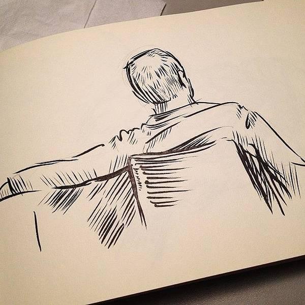 Brush Wall Art - Photograph - #sketch Of A #man by Jeff Reinhardt