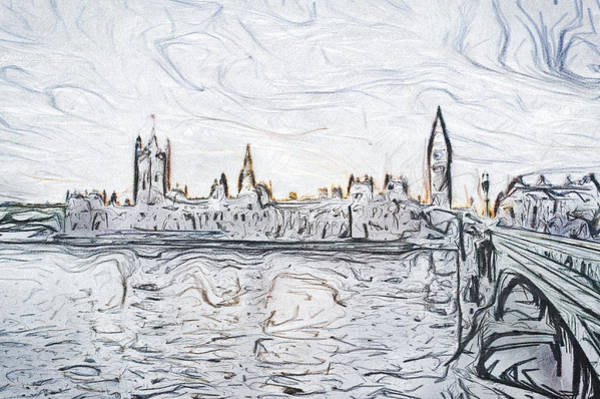 Pencil Sketch Photograph - Sketch Of London by Tom Gowanlock