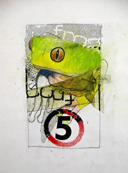 Drawing - Sketchbook 2  Pg 56  Frog 5 by Cliff Spohn