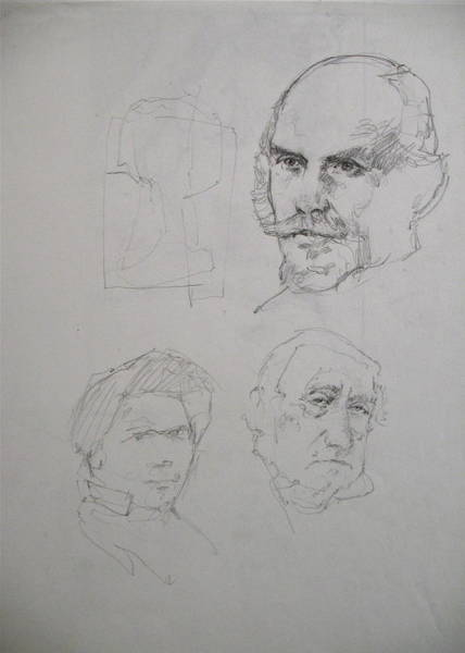 Drawing - Sketchbook 3 Pg 4 by Cliff Spohn