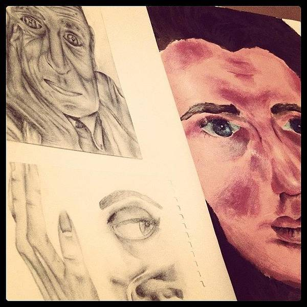 Grace Wall Art - Photograph - #sketchbook #sketch #drawing #paint by Grace Shine