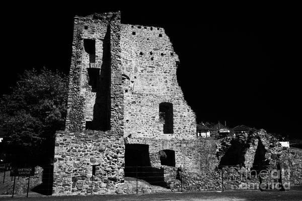 Wall Art - Photograph - Sketrick Castle Strangford Lough County Down Northern Ireland by Joe Fox