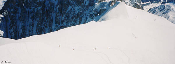 Photograph - Skiing In Chamonix by C Sitton