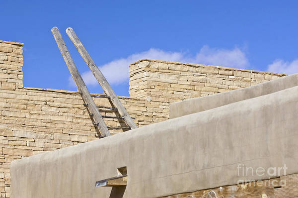 Acoma Photograph - Sky City Cultural Center Rooftop by Rob Tilley