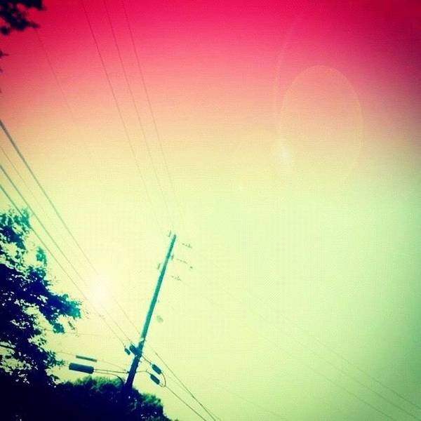 Blue Sky Photograph - #sky #edit #cary #prettycolors #pink by Katie Williams